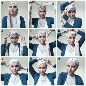 Хиджаб на лбу
