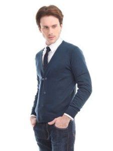Кардиган с галстуком