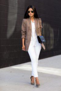 Модный женский коричневый пиджак