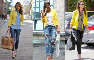 модели желтых пиджаков