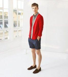 Мужской кардиган с шортами