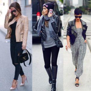 Модные и необычные образы с кожаным пиджаком