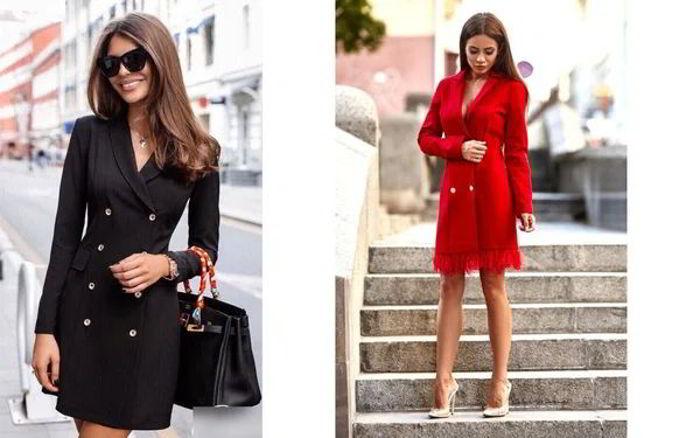 С чем сочетается платье-пиджак 1