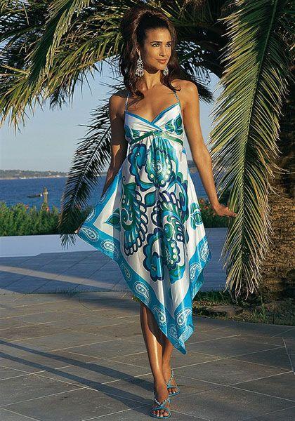 Платье из платка