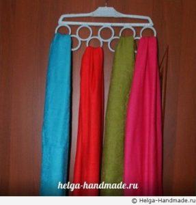 как хранить шарфы и платки