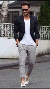 чёрный пиджак с чем носить мужчине