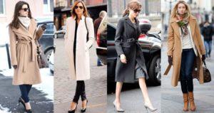 Классическое пальто и наряды