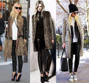 леопард с денимом