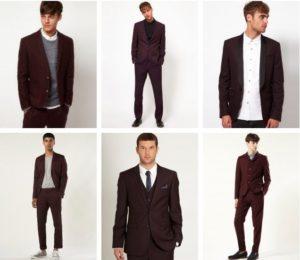 сочетание пиджака бордо для мужчин
