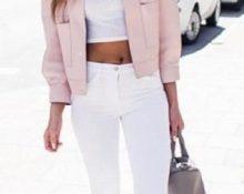 с чем носить розовую куртку