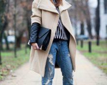 с чем носить светлое пальто