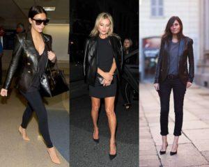 Образы знаменитостей в кожаных пиджаках