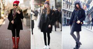 шапки к черному пальто