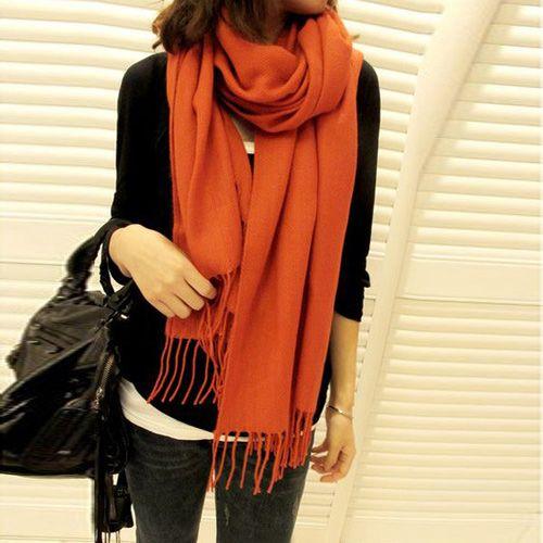 Оранжевый шарф