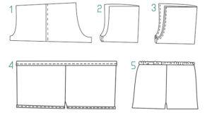 Схема пошива шорт