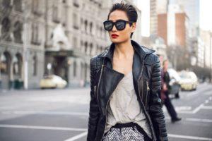 Кожаный пиджак для свободного уличного стиля