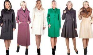 Женское пальто в различных фасонах