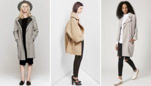 Разные модели женского пальто
