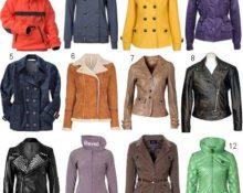 виды курток