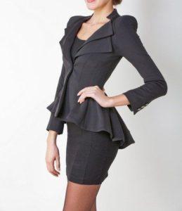 Женский пиджак с баской