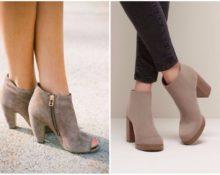 1 ботинки соткрытым носком