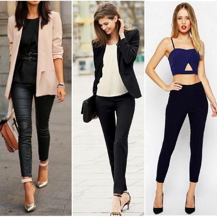 Чёрные брюки в женском гардеробе