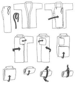 как складывать халат с запахом