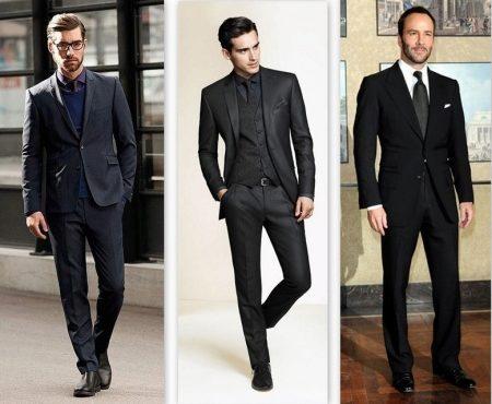классические черные мужские брюки