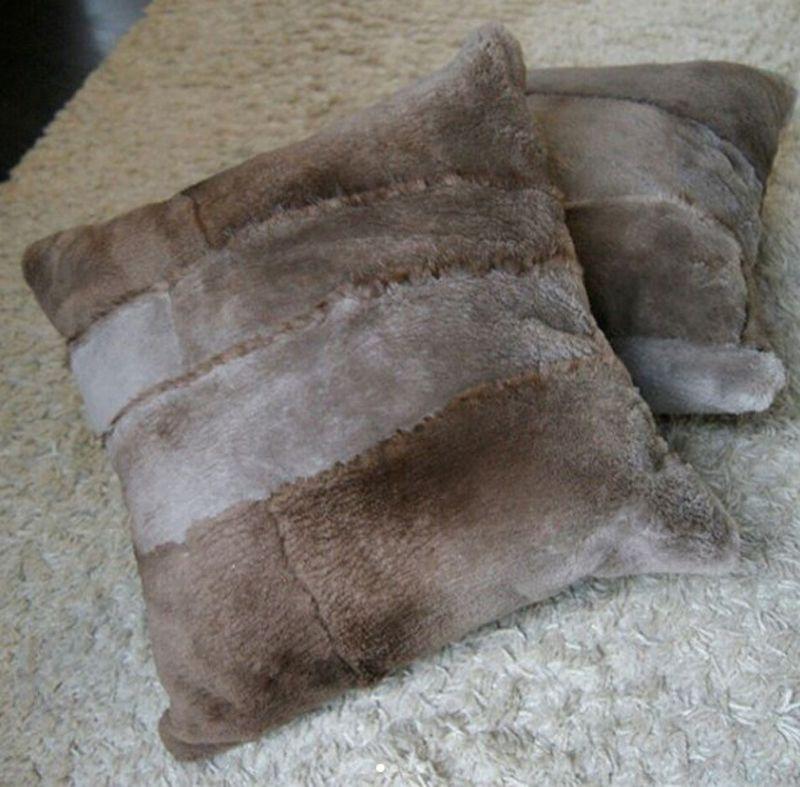 Подушки из дубленки