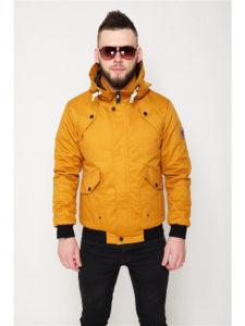 Демисезоная мужская жёлтая куртка