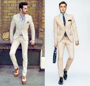 Двуцветные мужские туфли в деловом стиле