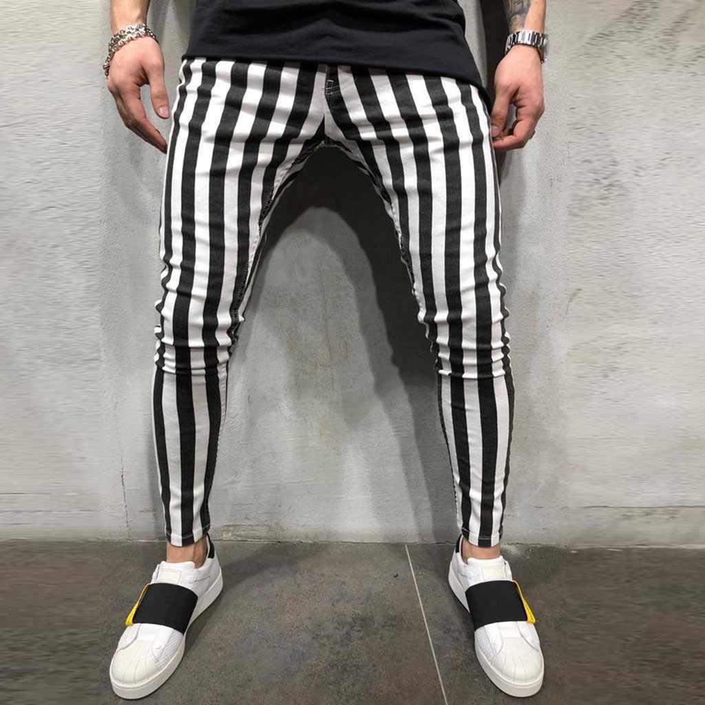 С чем носить брюки в полоску мужчине