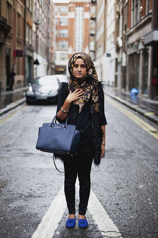 Хиджаб с современной одеждой