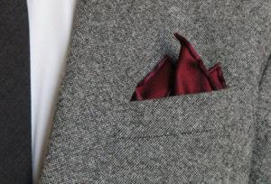 Как уложить платок тремя углами