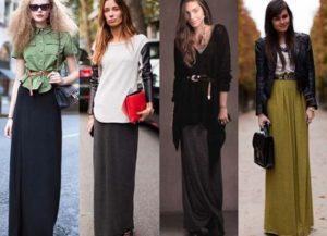 длинная юбка и ботинки