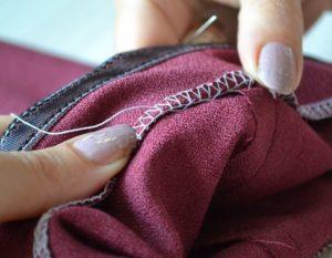 Подшиваем брюки лентой