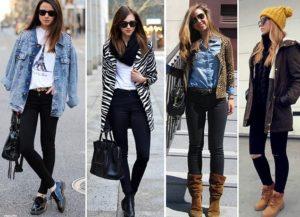 образы с джинсами и ботинками