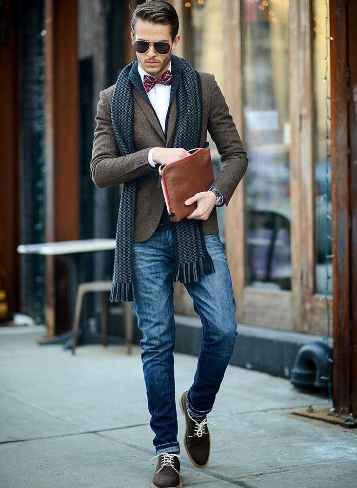 Коричневые ботинки мужчине