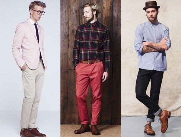 Коричневые мужские ботинки и стиль оджеды