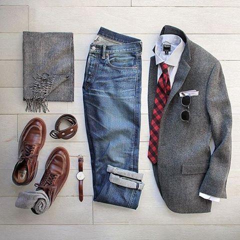 Одежда под коричневые ботинки