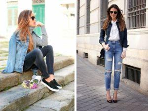Кроссовки и туфли под джинсовую куртку