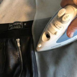 Осторожная глажка курток из полиуретана