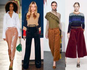 яркие образы с бархатными брюками