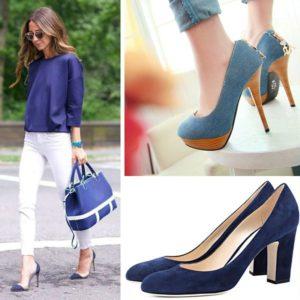 Синие туфли на каждый день