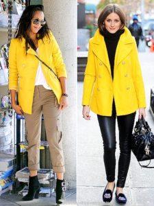 Образы с женской жёлтой курткой