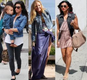 Образы знаменитостей в джинсовой куртке