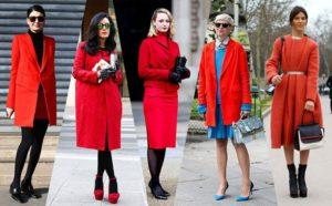 Обувь под ярко-красное пальто