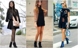 Платья и ботинки на шпильках