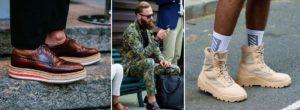 Полуспортивные мужские туфли