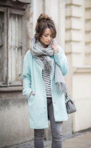 шарф и пальто